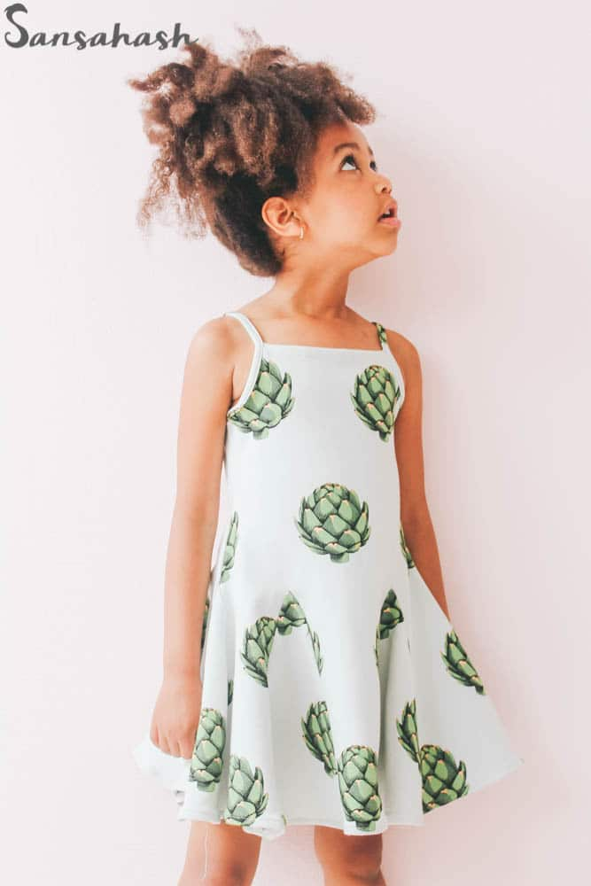 Gorgeous Harmania dress with godets!