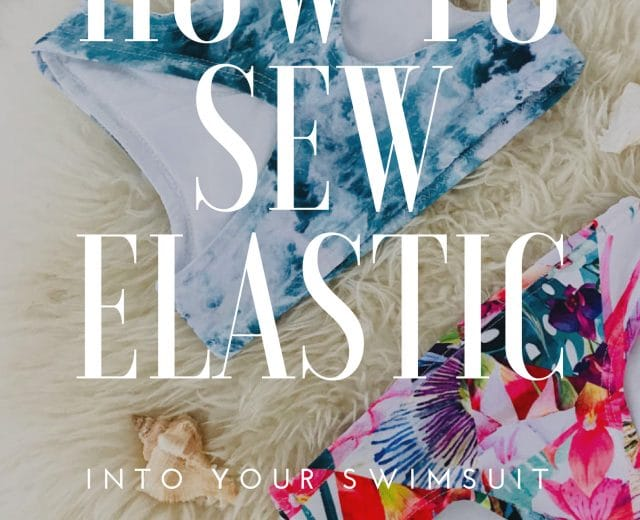 How to Sew Elastic Into A Swimsuit! easy way to add elastic to your swimsuit no fancy equipment are necessary